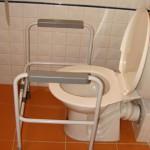 podpěry na WC přenosné